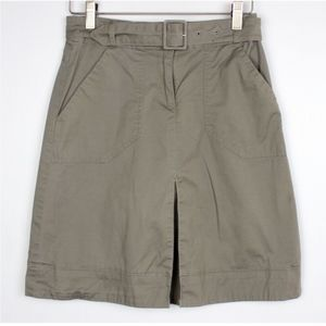 H&M Size 2 Belted Cargo A-Line High Waist Skirt